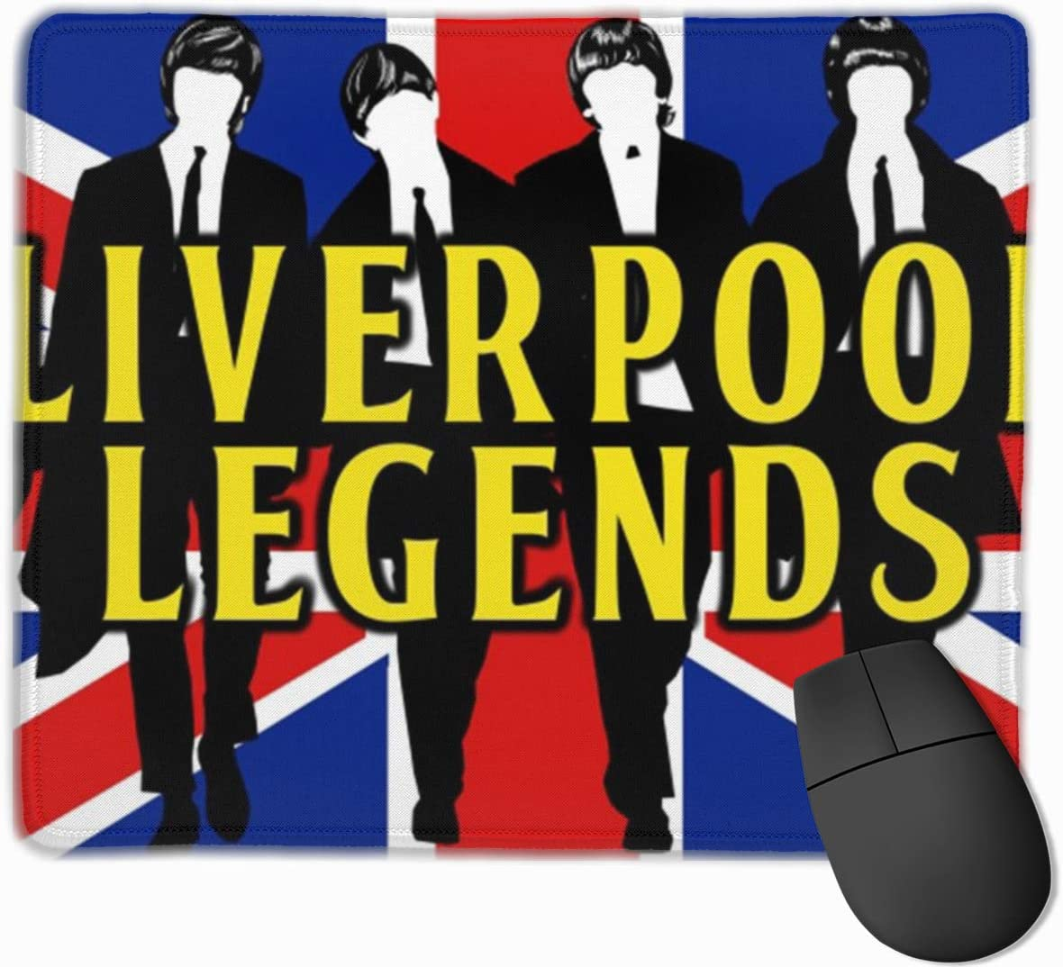 Liverpool-Legends Gaming Mouse Pad Computer Desk Pad Non-Slip Rubber Stitched Edges (9.8x11.8 Inch)