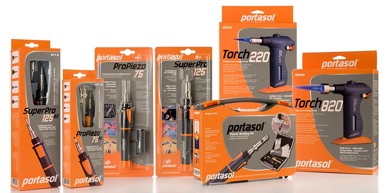 high-quality Portasol gas soldering-iron SuperPro 125 kit made in Ireland