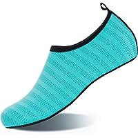 HMIYA Badeschuhe Strandschuhe Wasserschuhe Aquaschuhe Schwimmschuhe Surfschuhe Barfuß Schuhe für Damen Herren
