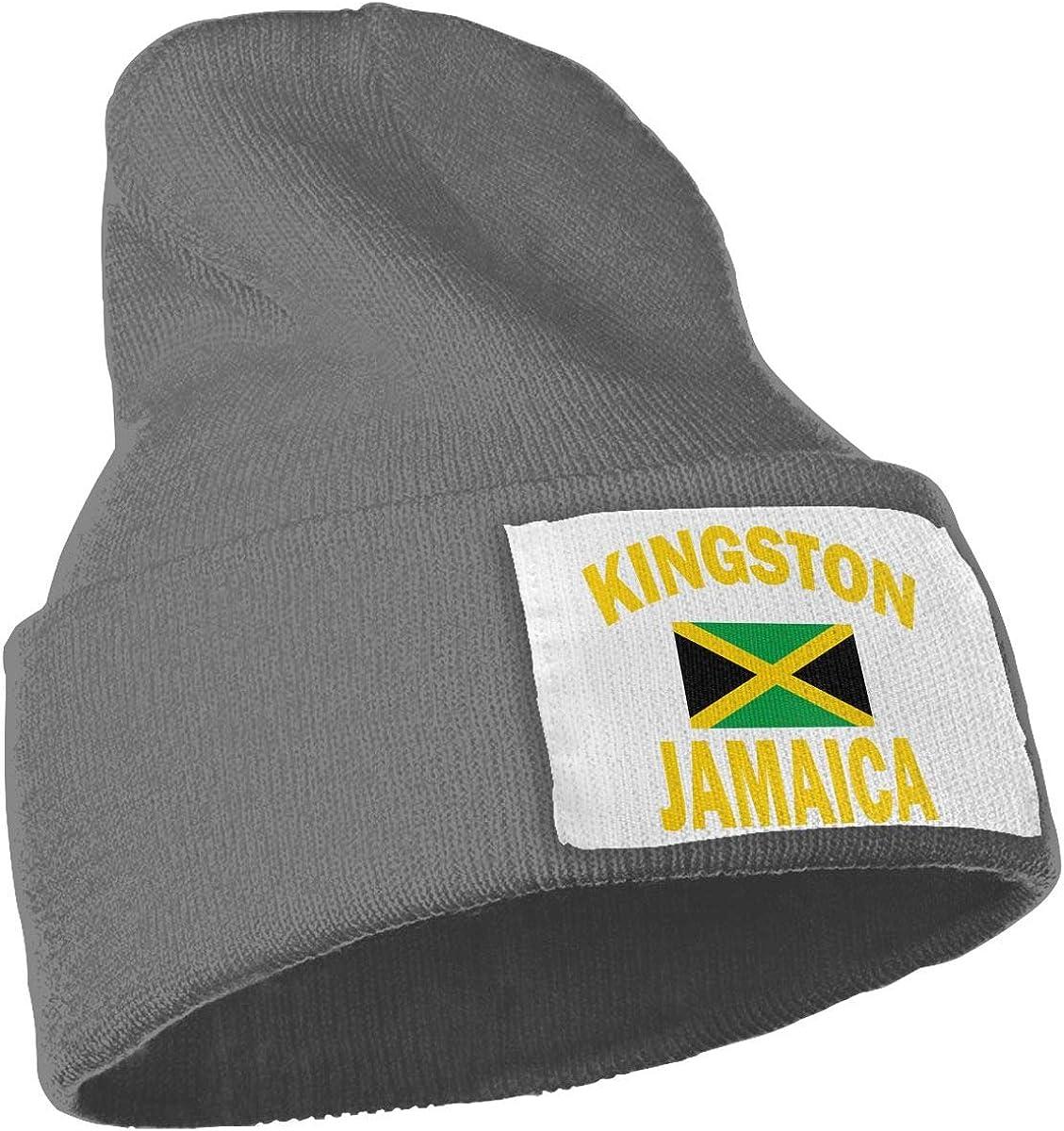 Kingston Jamaica Flag Men /& Women Skull Caps Winter Warm Stretchy Knit Beanie Hats