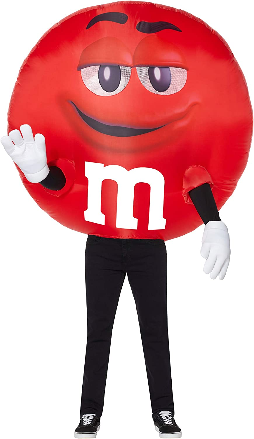 Adult Red M M Inflatable Costume   Officially Licensed