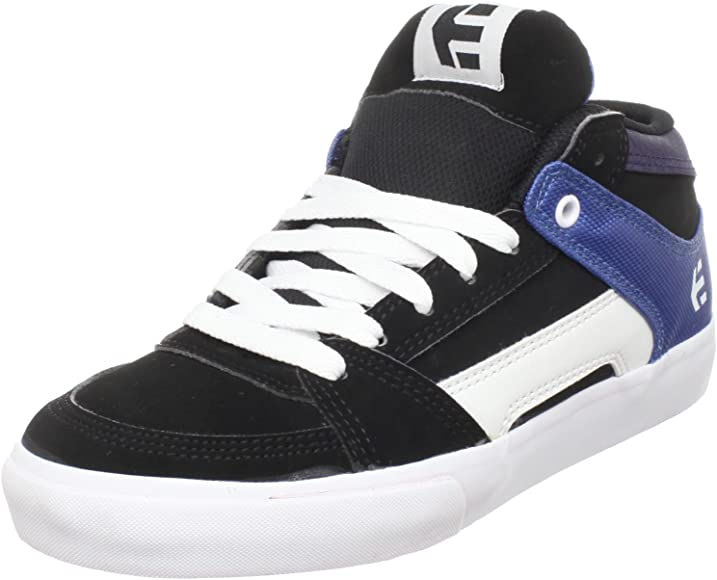 ETNIES RVM trainers toddlers youths uk 9.5 skate euro 27.5 black plaid NEW