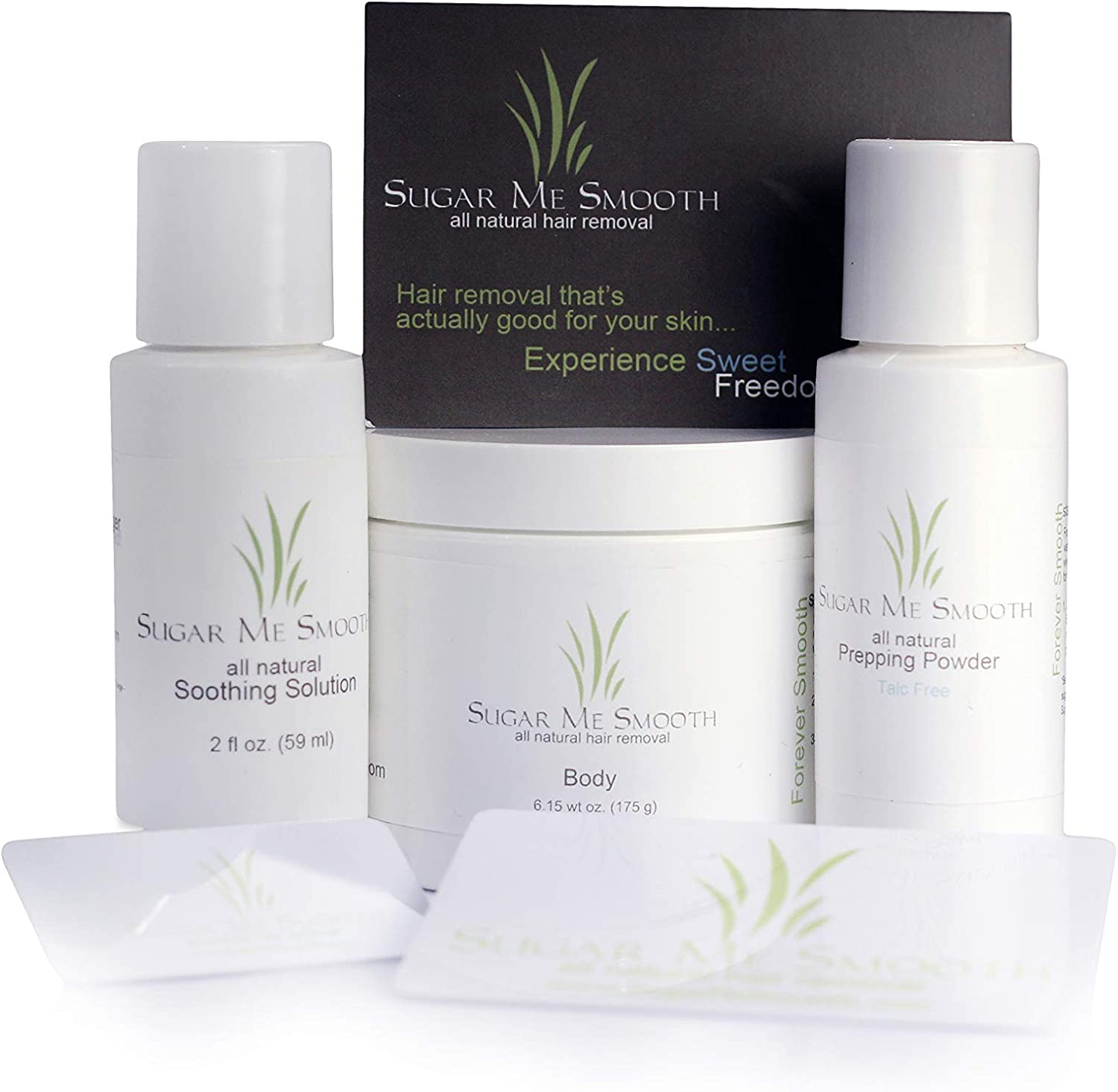 Sugar Me Smooth Body Hair Removal System - All Natural Hair Removal Kit. No Strips, No Heat & Less Pain!