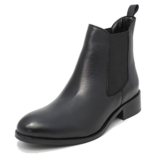 Womens Ladies Mod Comfys Nappa Leather Chelsea Ankle Boots Black SIZE 4   Amazon.co.uk  Shoes   Bags b7875ab7f5