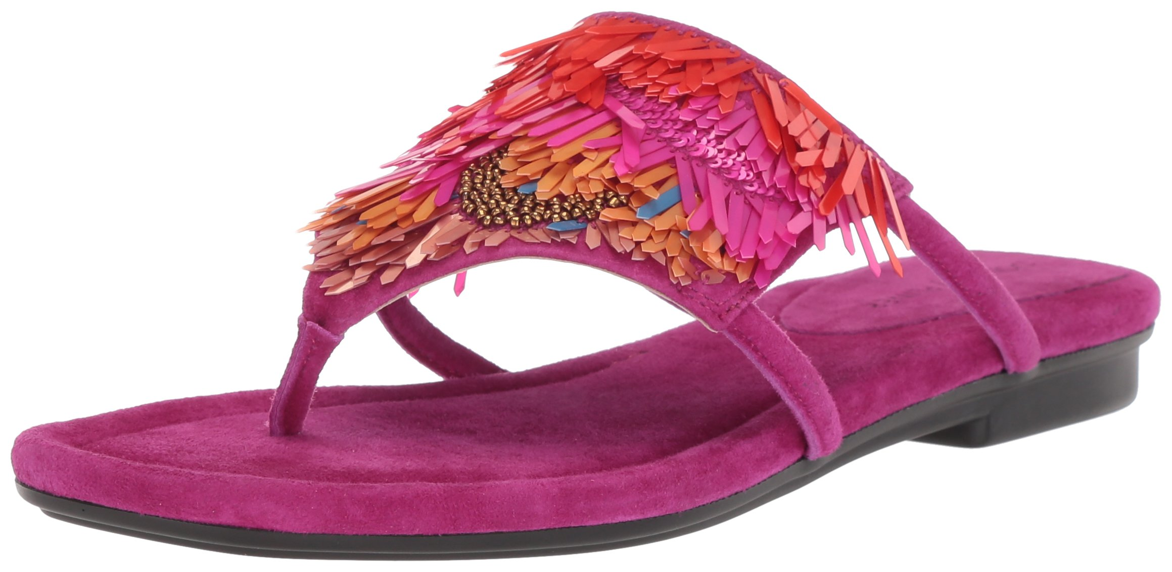 Donald J Pliner Women's Kya Slide Sandal, Magenta, 10 Medium US