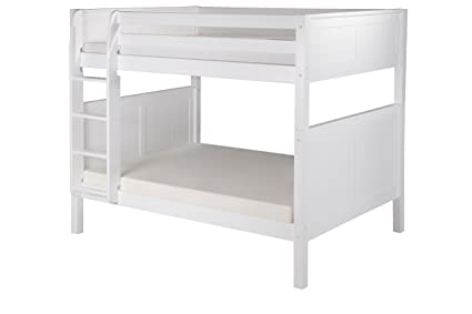 Amazon Com Camaflexi Panel Style Solid Wood Bunk Bed Full Over