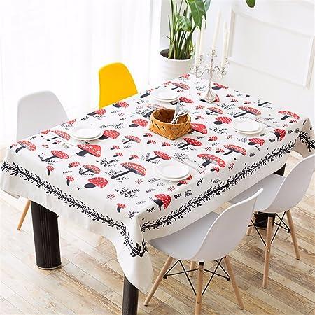 HXC casa Beige Rojo Seta mantel algodón lino mesa de comedor ...