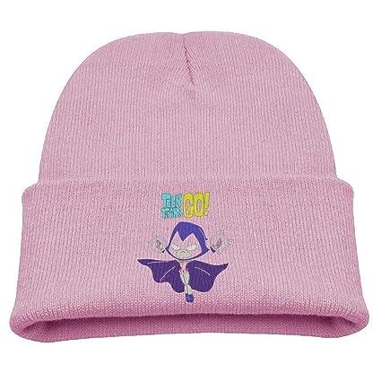c1a968f5 Amazon.com: WHROOER Teen Titans Go Raven Warm Winter Hat Knit Beanie Skull  Cap Cuff Beanie Hat Winter Hats Girls: Home & Kitchen