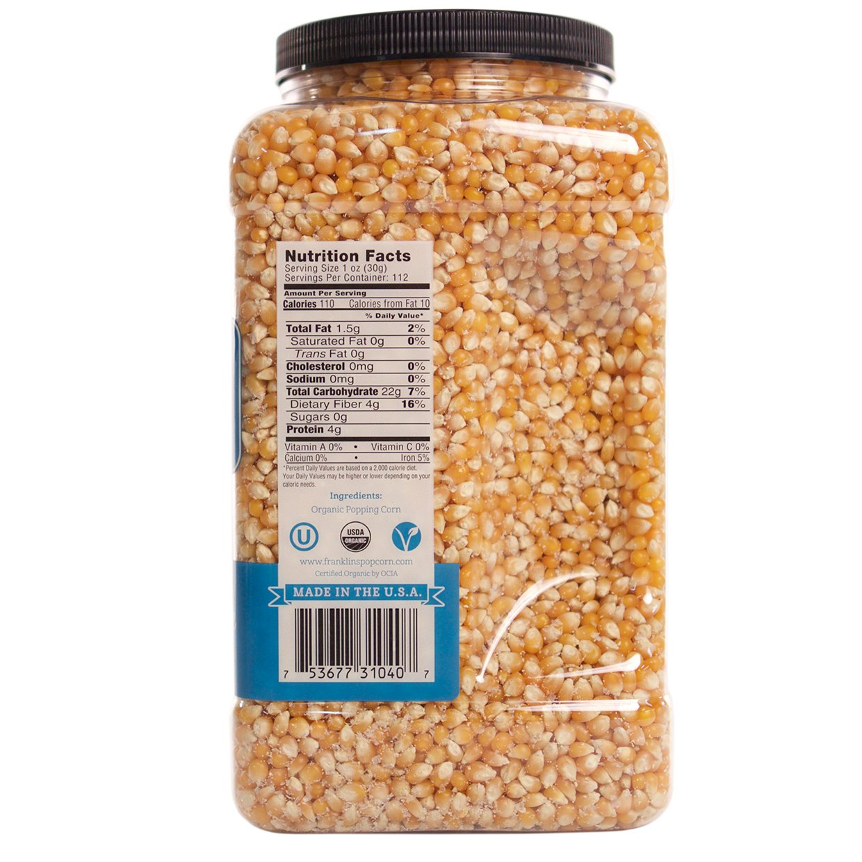 Franklin's Organic Popping Corn (7 lbs). Make Movie Theater Popcorn at Home. by Franklin's Gourmet Popcorn (Image #2)