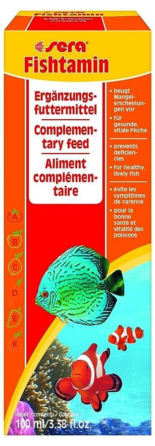 Sera 2740 fishtamin 3.38 100 ml Pet Food, One Size