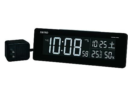 Seiko CLOCK Clock Exchange Type Color LCD Digital Radio Alarm Clock Black DL205K