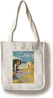 product image for Lantern Press York Beach, Maine - Beach Scene (100% Cotton Tote Bag - Reusable)