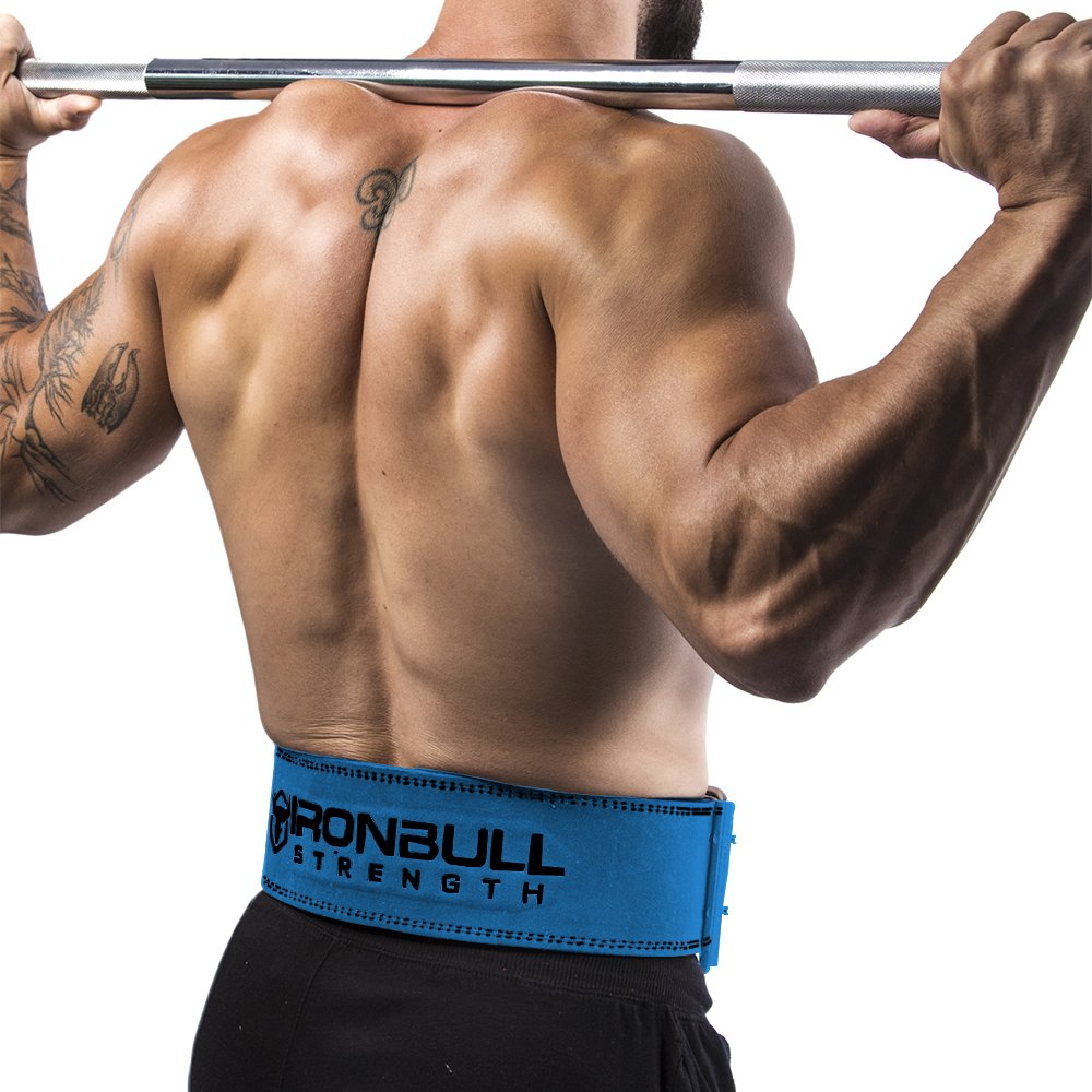 Iron Bull Strength Powerlifting Belt - 10mm Double Prong - 4-inch Wide - Heavy Duty for Extreme Weight Lifting Belt (Blue, Medium) by Iron Bull Strength (Image #5)