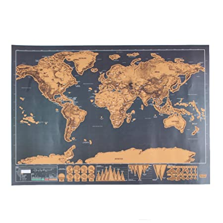 Haosshop deluxe travel edition scratch off world map poster haosshop deluxe travel edition scratch off world map poster personalized journal log gift gumiabroncs Image collections