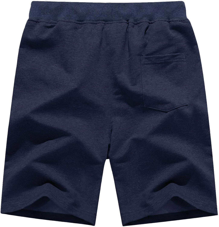 BIYLACLESEN Mens Running Shorts Lightweight Gym Workout Training Shorts Zipper Pockets