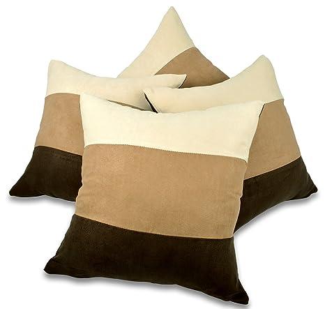 Amazon.com: Conjunto de 4 marrón, Latte y crema ante ...