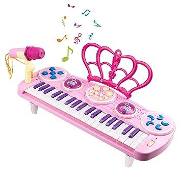 Teclado Multifunción Clave Electrónico Play Para Niños37 Piano GSzVpqUM