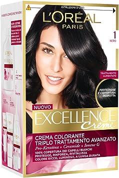 LOREAL EXCELLENCE Crème 1 - Tinte para el pelo, color negro