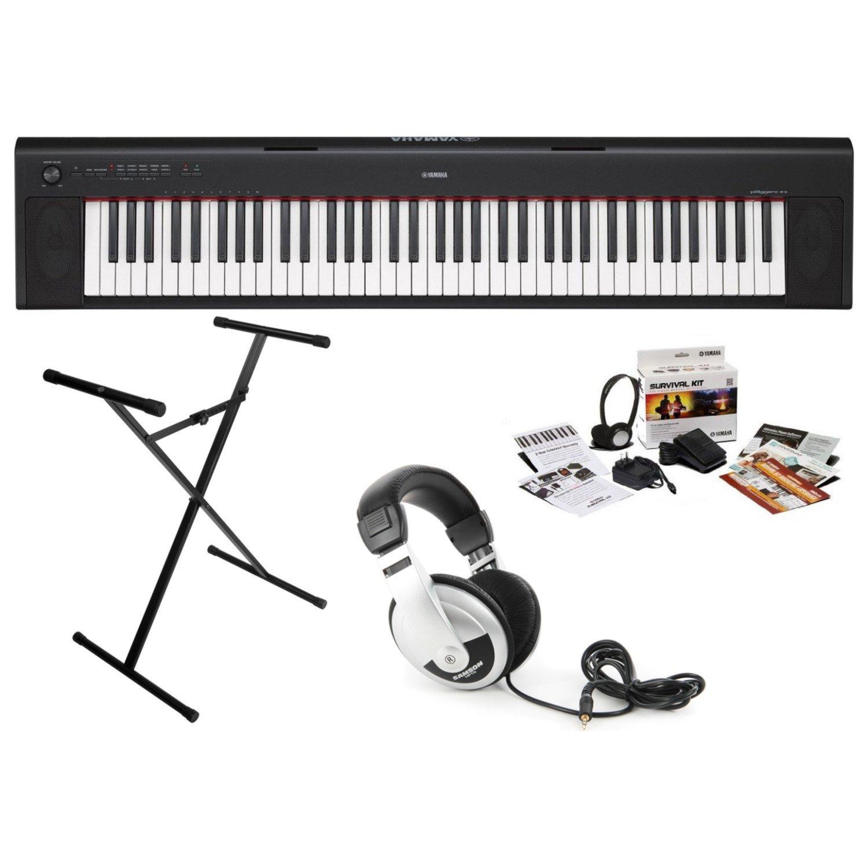 Yamaha NP32B KIT Piaggero 76-Key Keyboard with Survival Kit, Headphones, and Stand by YAMAHA