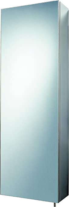 Cavalier Tall Stainless Steel Wall Mounted Mirrored Bathroom Cabinet 7004 550 3 Shelves