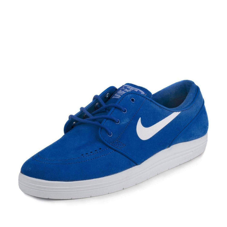 8354bfd2bf50f Nike Men's Lunar Stefan Janoski Skate Shoes-Game Royal/White