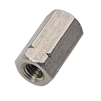 2 St/ück M20 Langmuttern Gewindemuffen Edelstahl A2 V2A DIN 6334 Au/ßensechskant