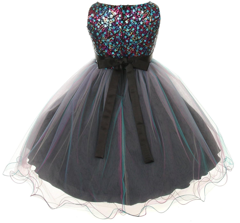 Amazon Multicolored Sequin Bodice Special Occasion Dress Infant