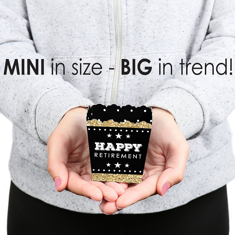 Big Dot of Happiness Happy Retirement - Party Mini Favor Boxes - Retirement Party Treat Candy Boxes - Set of 12 by Big Dot of Happiness (Image #4)