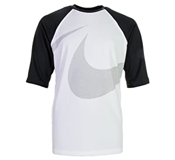66e7db9c Nike Macro Swoosh Half Sleeve Hydroguard: Amazon.co.uk: Sports ...