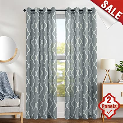amazon com moroccan tile print curtains for living room curtain