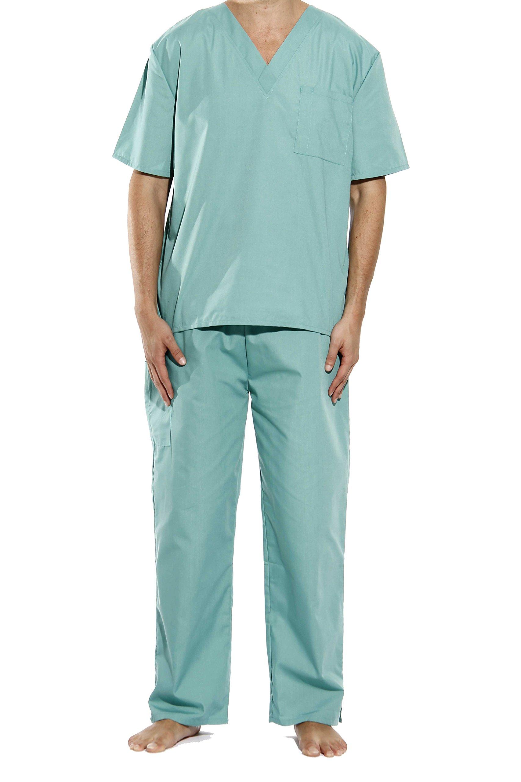 33000M-Teal-XL Tropi Unisex Scrub Sets / Medical Scrubs / Nursing Scrubs