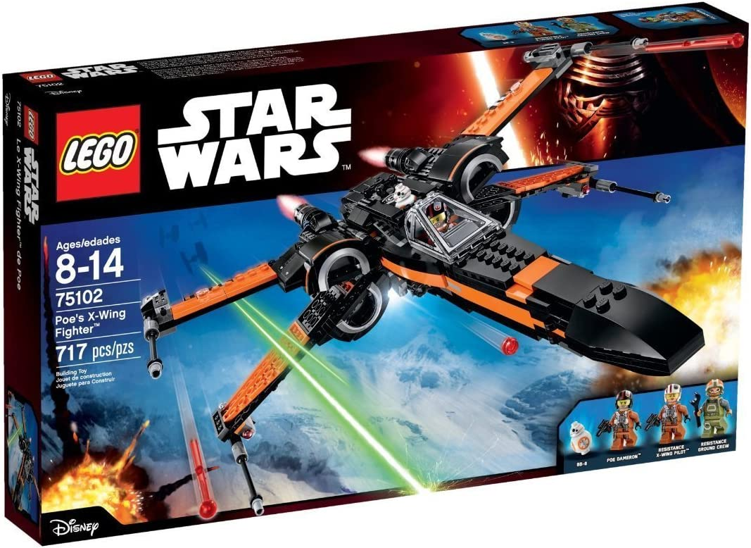 LEGO Building Block Spacecraft Poe's X-Wing Fighter Star Wars (717pcs) Toys