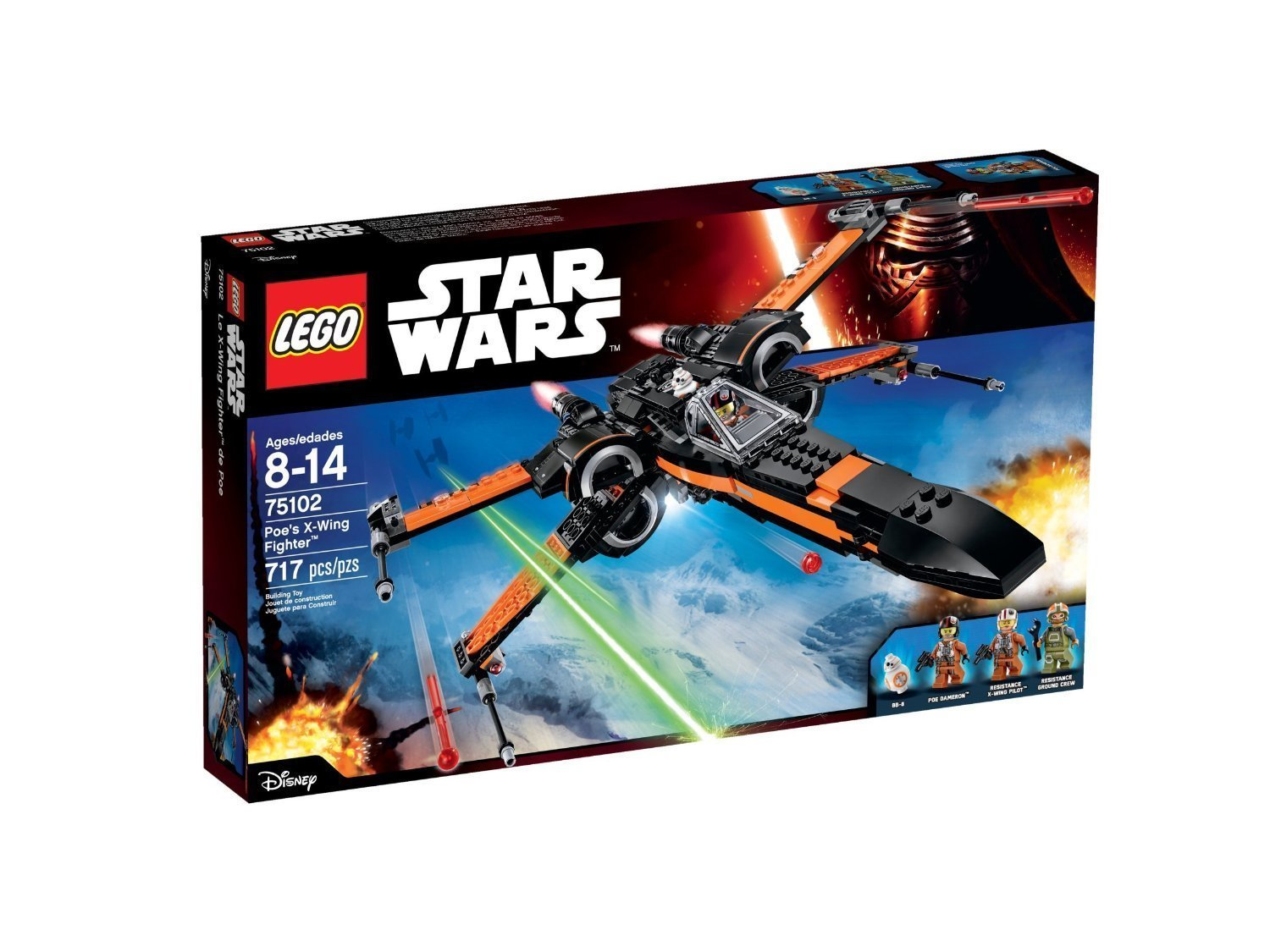 717pcs Building Block Spacecraft Poes X-Wing Fighter LEGO Star Wars Toys