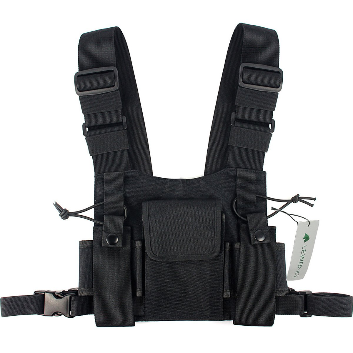 Lewong Universal Radio Chest Harness Bag Pocket Pack Holster for Two Way Radio (Rescue Essentials) by Lewong