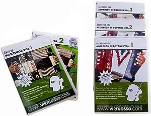 Virtuosso DVDAP Curso De Accordion Dvd Pack 5 DVD and 5 CD