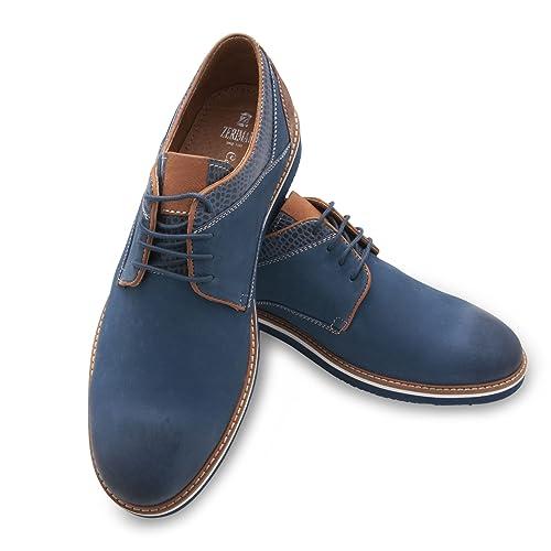 f346a300eb Zerimar Zapato de Piel para Hombre con Diseño Elegante Zapatos con Cordones  para Hombre Color Tan Talla  41  Amazon.es  Zapatos y complementos