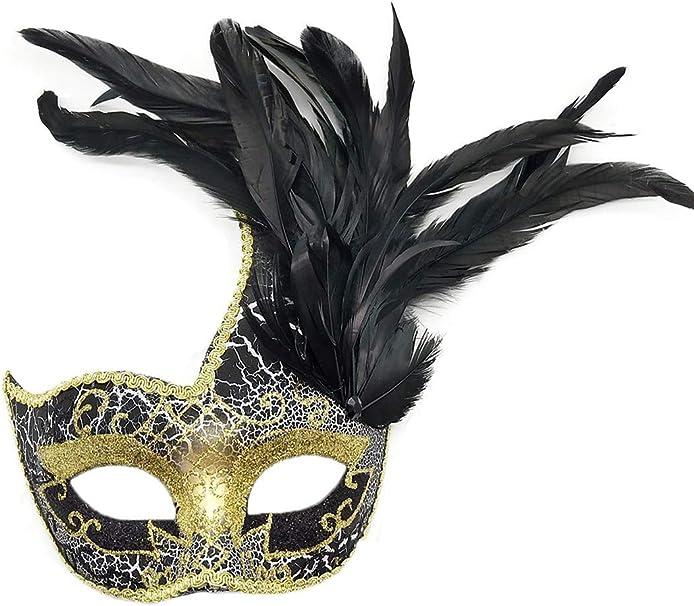 Amazon.com: Máscara de plumas para disfraz de Halloween ...