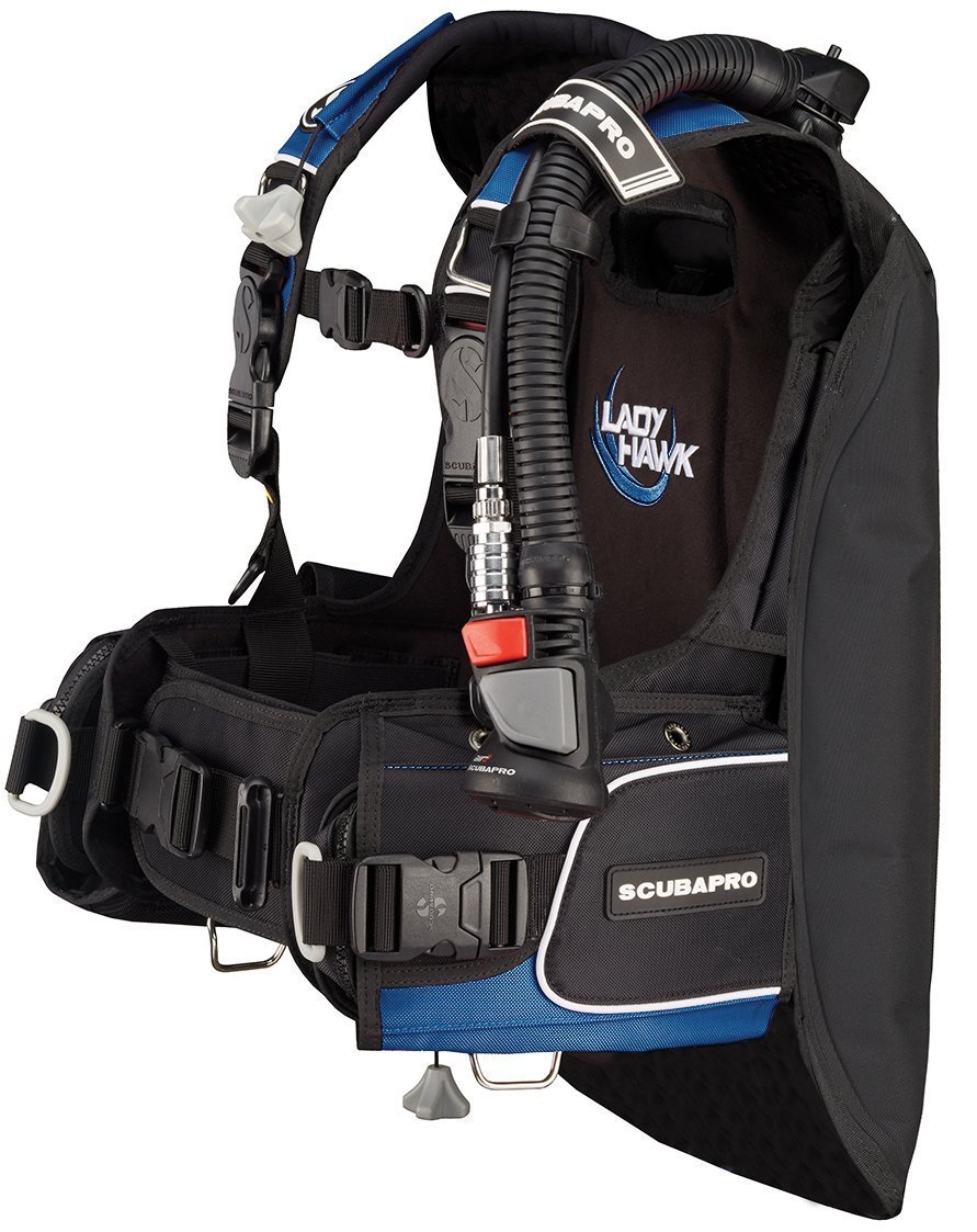 ScubaPro Ladyhawk Womens BCD w/AIR 2 5th Gen (Blue, Medium-Large)