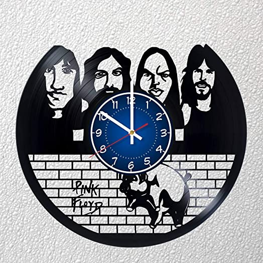 Pink Floyd Rock Band 12 inches 30 cm Vinyl Record Wall Clock Fan Gift Music Clock Children's Room Decor Idea Home Art Party Gilmour