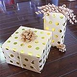 Golden Polka Dot Kraft Wrapping Paper - 40ft Roll