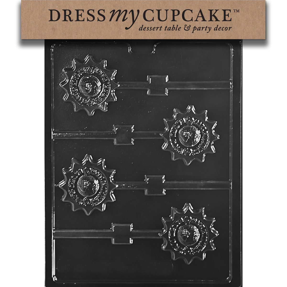 Dress My Cupcake DMCM232SET Chocolate Candy Mold, Make Everyday Earth Day Lollipop, Set of 6 by Dress My Cupcake