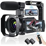 Video Camera Camcorder, AiTechny 4K Digital Camera 48MP 60FPS WiFi YouTube Camera IR Night Vision Touch Screen 16X Digital Zo