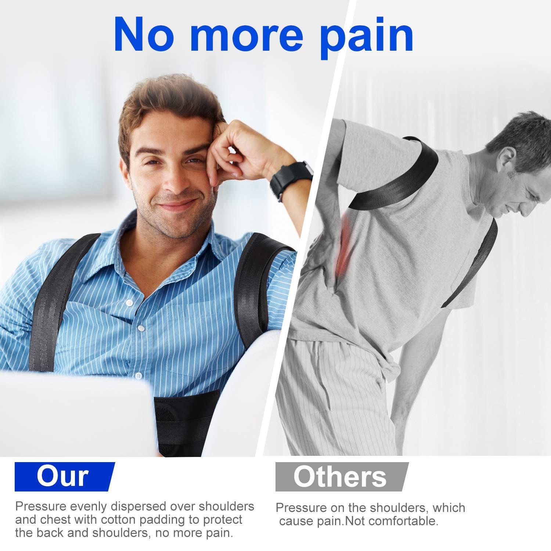 Lukemoz Posture Corrector for Men and Women, Adjustable Shoulder Brace Back Straightener, Comfortable Back Brace for Back Pain Relief, Improves Posture(S)