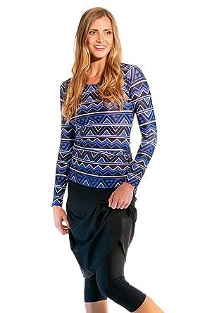 621c2ffd25c32 Ella Mae Modest Swimsuit for Women with Long Sleeve Swim Shirt and Skirt  with Knee Length Swim Capri Leggings (S-XXXL) at Amazon Women's Clothing  store: