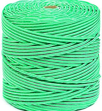 Hcs - Cuerda polipropileno trenzado 5mm blanco/verde 200mts ...