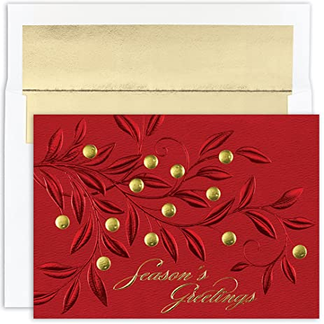Amazon great papers holiday greeting card red branches 16 holiday greeting card red branches 16 cards16 envelopes m4hsunfo