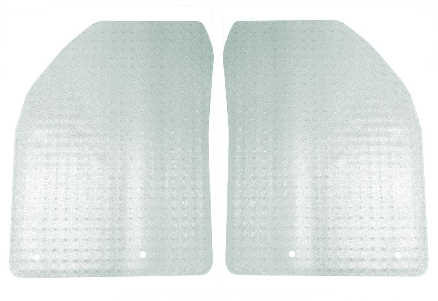 CFMA5FFD9665 Clear Nibbed Vinyl Coverking Front Custom Fit Floor Mats for Select Crown Victoria Models