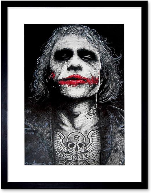 BATMAN THE JOKER CANVAS ART DARK KNIGHT XL Art Williams