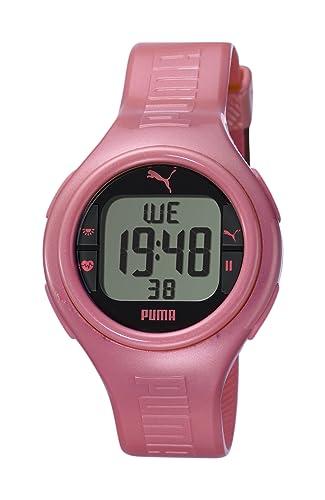370aa593d Puma PU910541008 - Reloj digital de cuarzo para mujer con correa de caucho