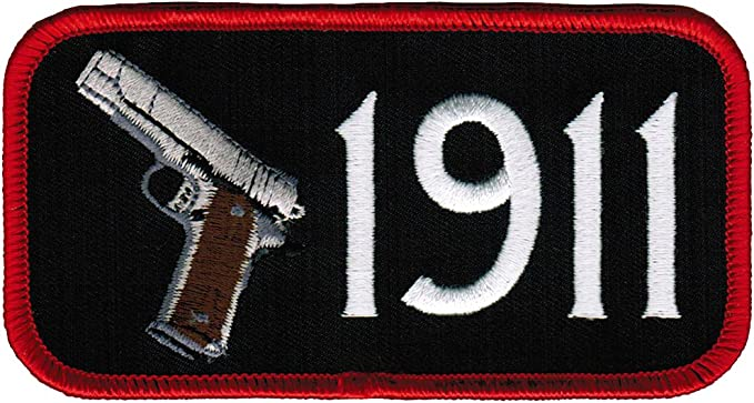 PROUD AMERICAN GUN OWNER EMBROIDERED new 1911 PATCH 2nd Amendment IRON-ON EMBLEM